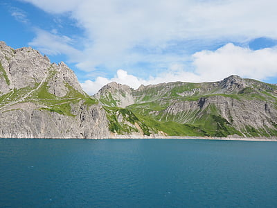 luenersee, schafgafall, brandnertal, Vorarlberg, Áustria, montanhas, Alpina