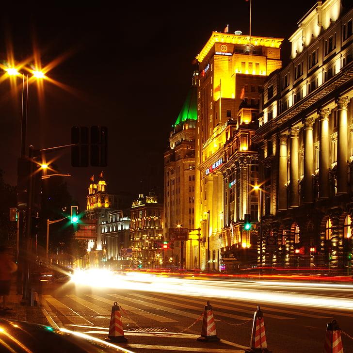 shanghai, street view, night view