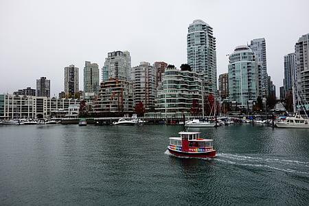 Vancouver, Kanada, River, aluksen, rakentaminen, asuin, lautta