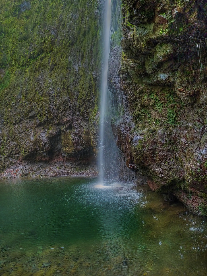 madeira, portugal, atlantic, island, waterfall, highlands, mountains