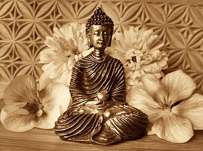 Buddha, többi, néma, meditáció, buddhizmus, Ázsia, ábra
