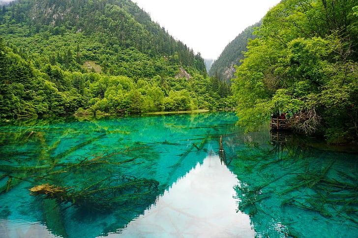 Sichuan, Jiuzhaigou, sjön