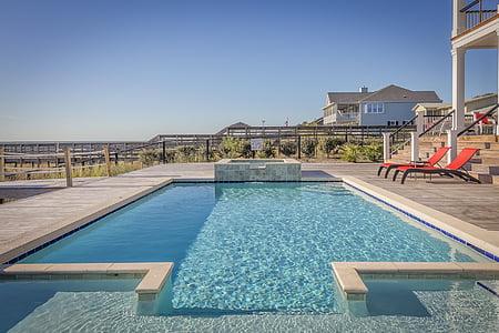 mimari, otel, Havuzu, Havuz başı, Resort, Villa, su