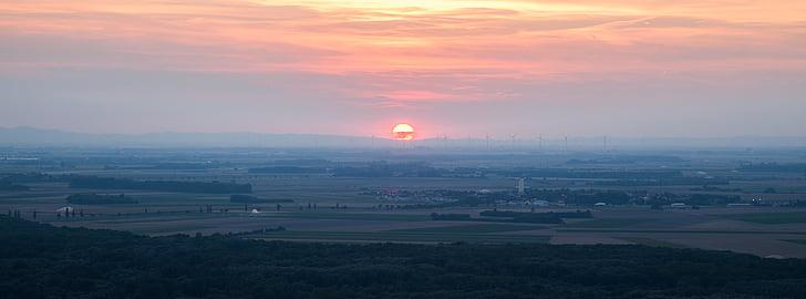 ηλιοβασίλεμα, το βράδυ, τοπίο, βραδινό ουρανό, Λυκόφως