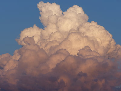 niebo, Chmura, niebieski, czerwony, biały, niebo, chmury formularza