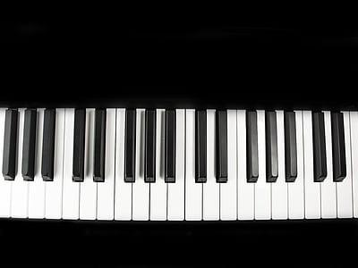 piano, keys, keyboard, music, piano keyboard, instrument, black