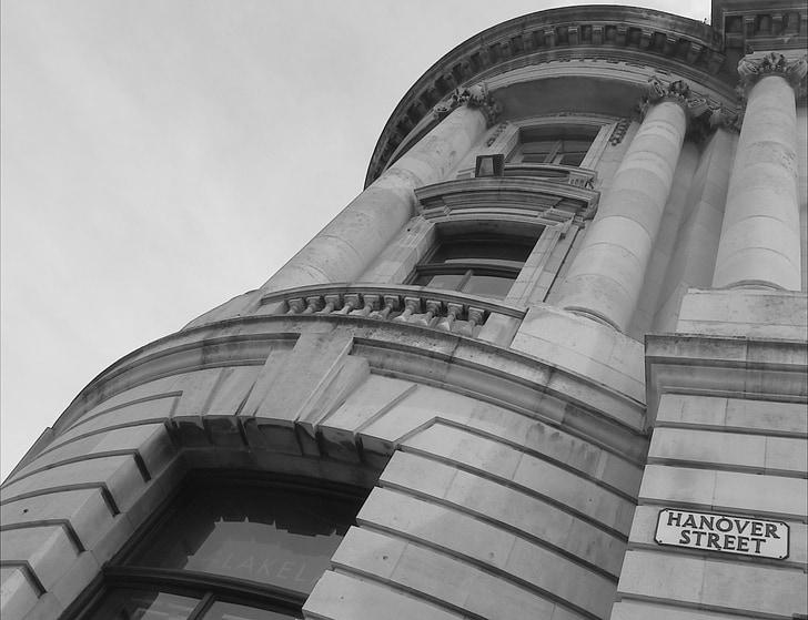 hanover street, architecture, building, edinburgh, black and white