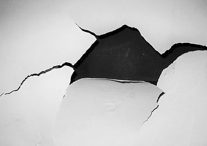 hole, crack, wallpaper, wall, white, funny, broken