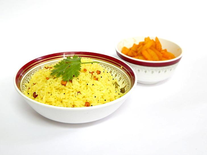 arròs a la llimona, àpat, alevins de patates, dinar, cuina, cuina, llimona