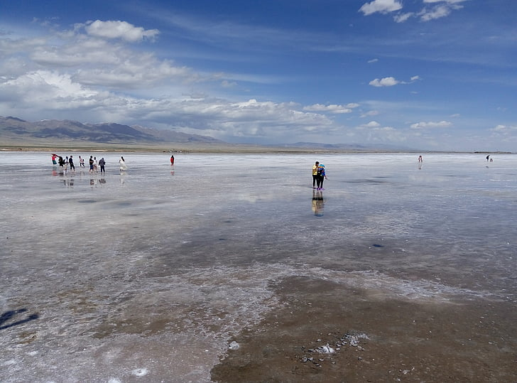 Caka zoutmeer, China, Qinghai