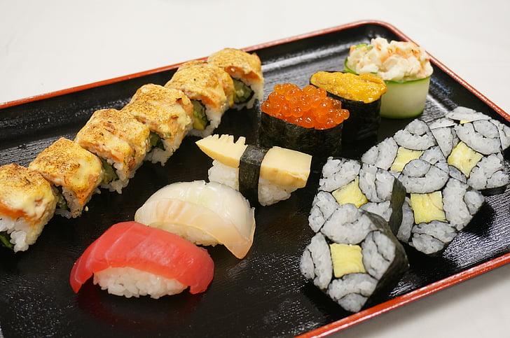 Sushi, Japan, keuken, voedsel, gastronomische, schaal-en schelpdieren, maaltijd