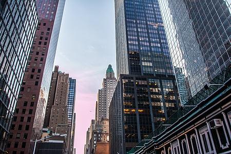 Nova york, Amèrica, NY, Nova York, Manhattan, ciutat, horitzó