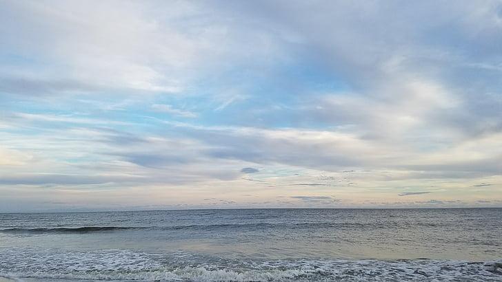 Beach, Ocean, modrá