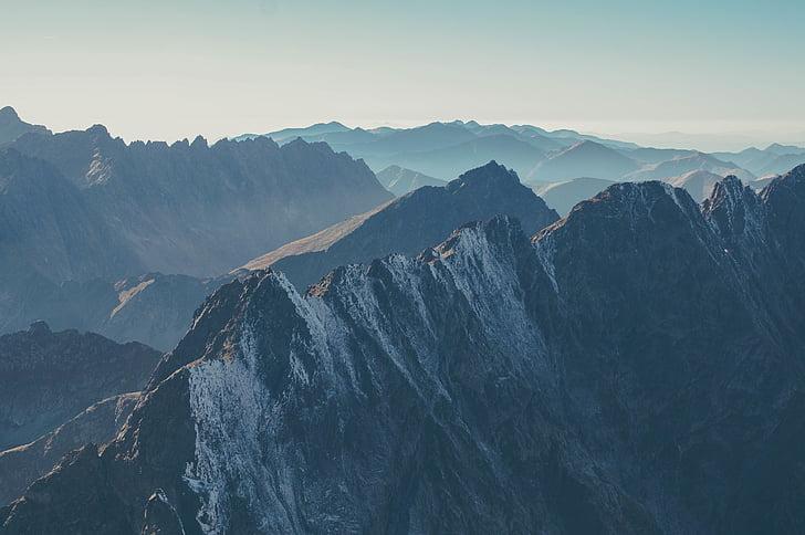 landscape, mountain range, mountains, nature, rocky mountains