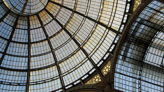 vidre, sostre, estructura, Windows, arquitectura, galeria, Milano