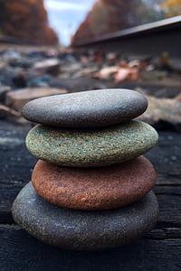 Roca, equilibri, pedra, Zen, natura, pedra - objecte, Zen com