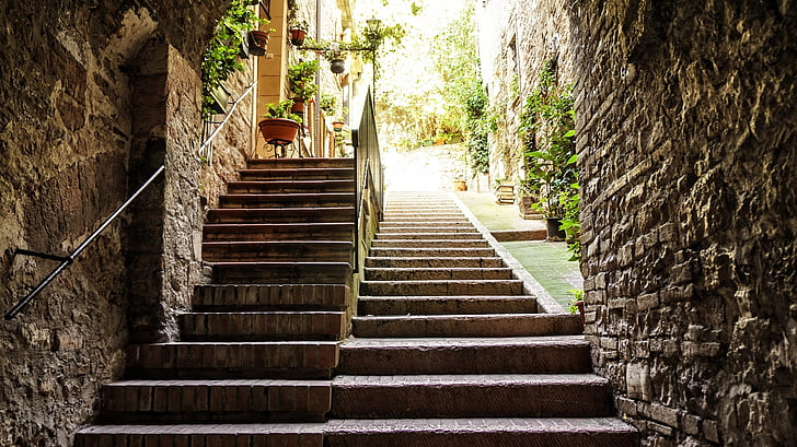 Free Photo: Stairs, Level, Away, Emergence, Staircase, Stone, Stair Step