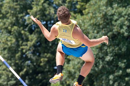 Atletisme, perxa, esport, mannheim gala júnior, a l'exterior, homes, atleta