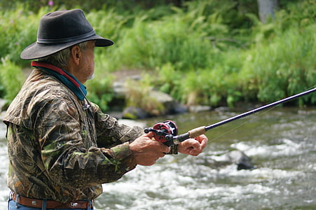 fisherman, river, fishing, stream, alaska, alaskan, water