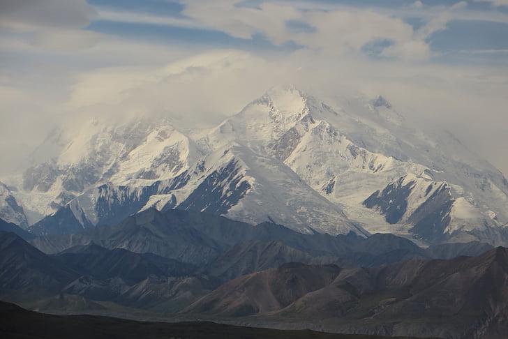 Denali, Alaska, Parc, Nacional, paisatge, neu, muntanya