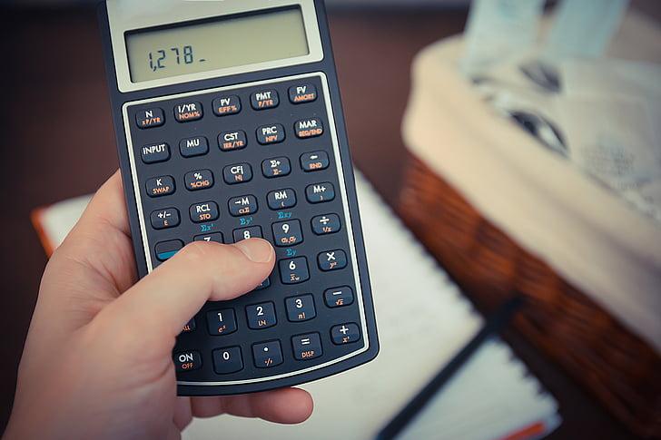 пари, сметки, Калкулатор, Запиши, спестявания, данъци, Бизнес