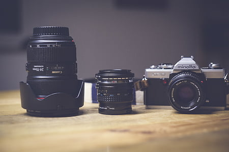 analògic, càmera, SLR, nostàlgia, retro, càmera vell, fotografia