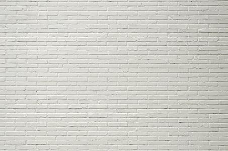 paret, maons, blanc, paret de Maó blanc, textura, construcció, arquitectura
