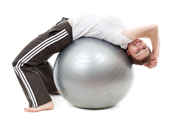 활성, 활동, 공, 운동, 여성, 맞춤, 피트 니스