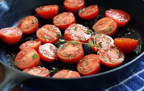 tomàquets, vermell, fresc, vegetals, aliments, tomàquet, Amanida