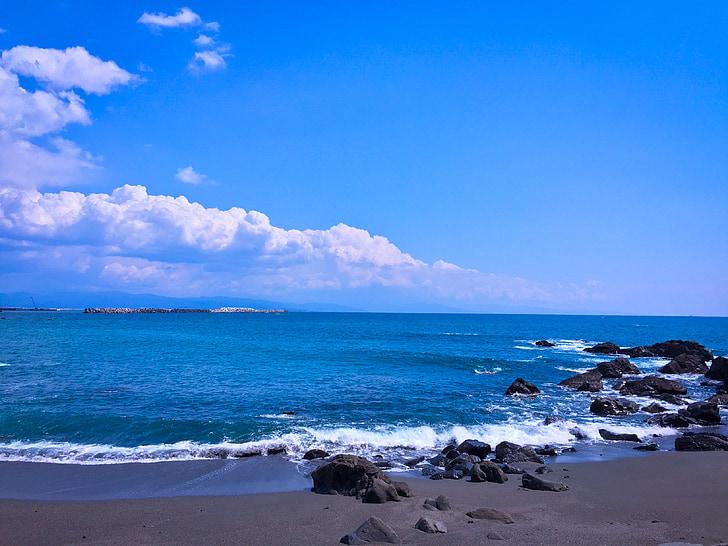Mar, platja, l'estiu, oceà, marí, sorra