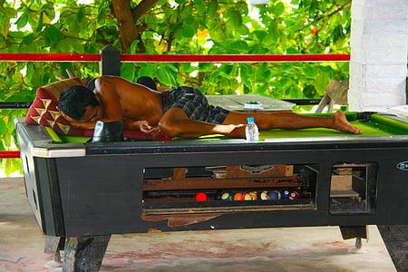 schlafen, Billardtisch, Thailand, Urlaub, liegen, Entspannen Sie sich, Sommer