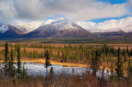paisatge, escèniques, muntanyes mentasta, a l'exterior, paisatge, núvols, neu