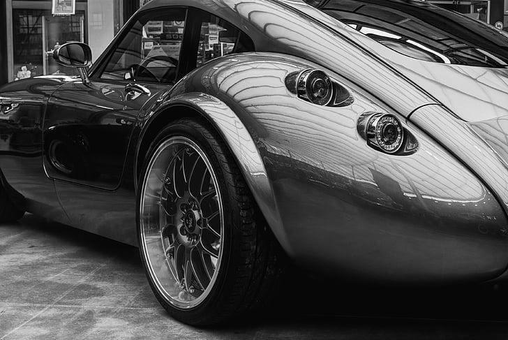Otomobil, Otomotiv, siyah-beyaz, Araba, lüks, araç