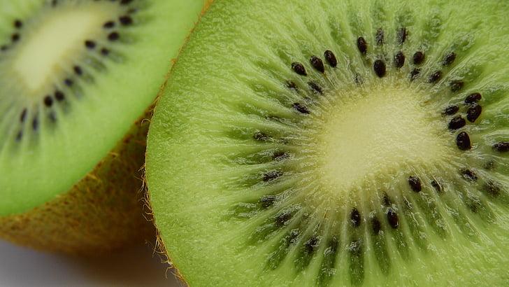 Kiwi, frugt, detaljer, fosteret