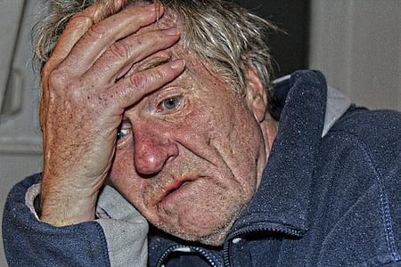 Casa per anziani, demenza, uomo, vecchio, età, morbo di Alzheimer, Casa di riposo