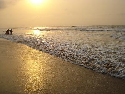 Pantai, matahari terbit, pantai yang indah, Asia, Pantai, laut, liburan