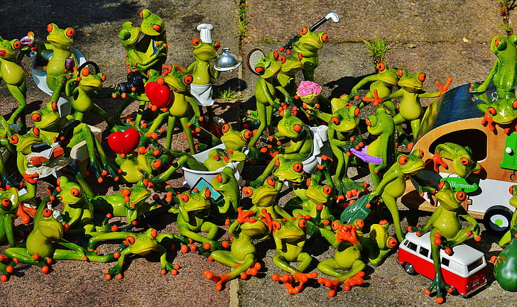granotes, molts, grup, col·lecció, valent, dolç, massa