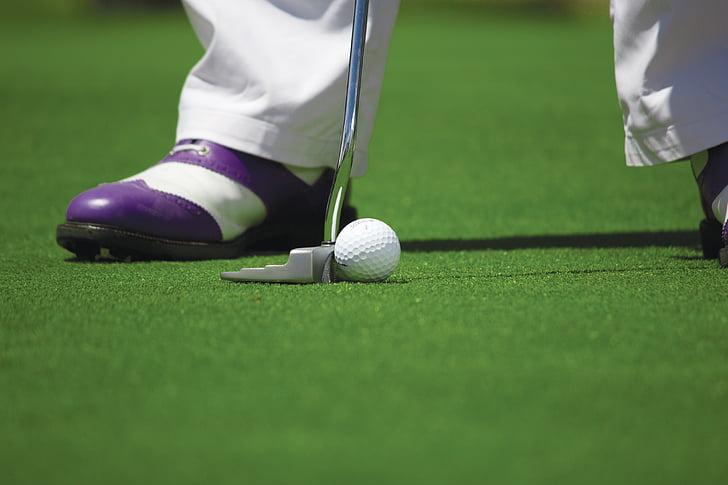 ball, club, course, game, golf, golf ball, golf course