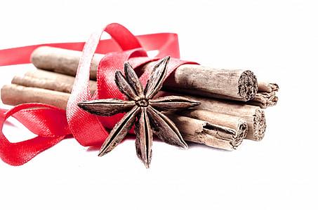 kayu manis, tongkat, Adas manis, Adas manis, terisolasi, kulit, rempah-rempah