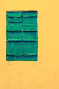 Cypr, Paralimni, stary dom, kolory, okno, w wieku, drewniane