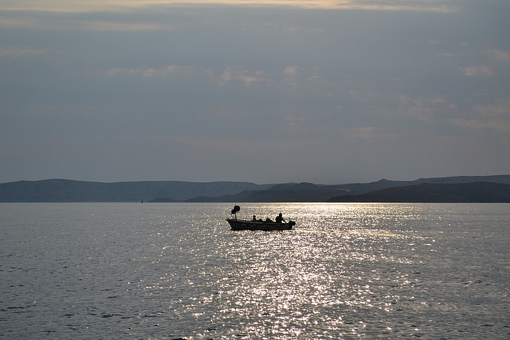 fisherman and dog, fisherman, adriatic sea, sea, boat, croatia, mediterranean