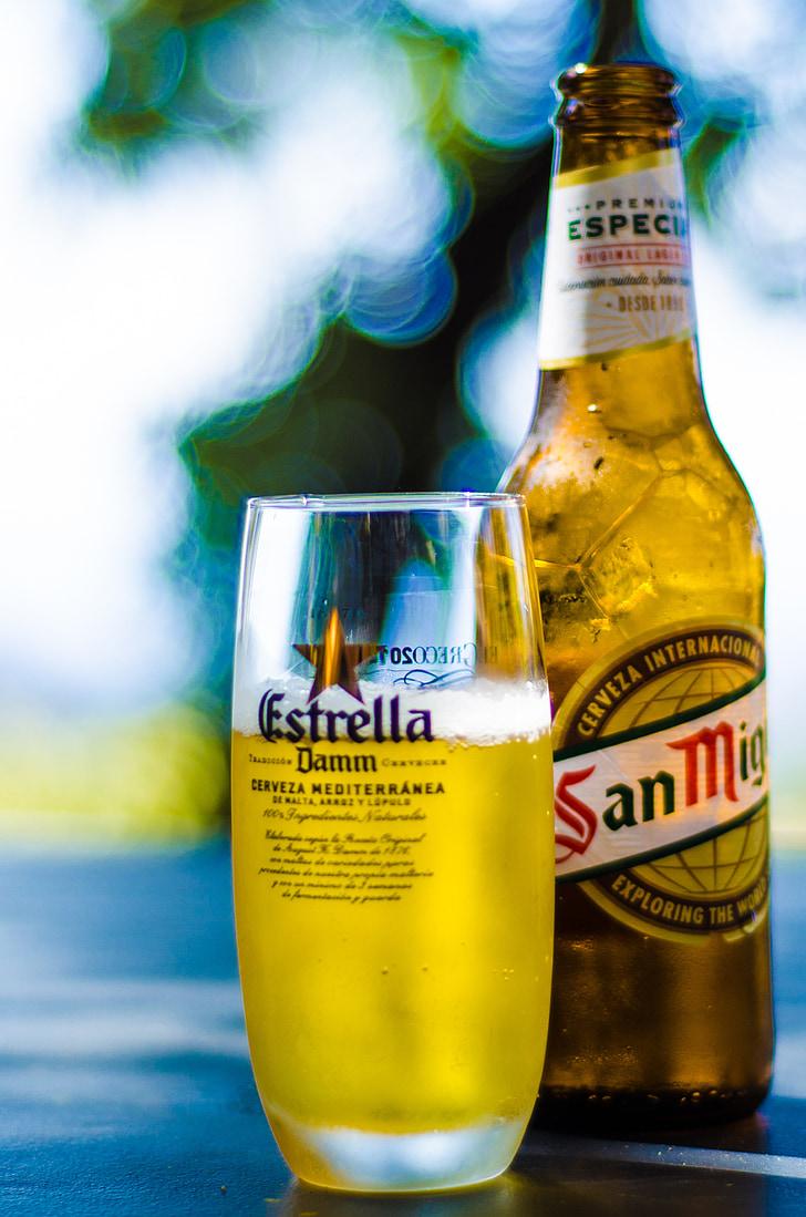 õlu, klaas, jook, alkoholi, jook, külm, Lager