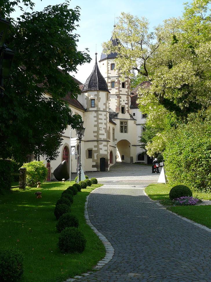 Замок, Haigerloch, Haigerloch замок, здание, Идиллия, барокко
