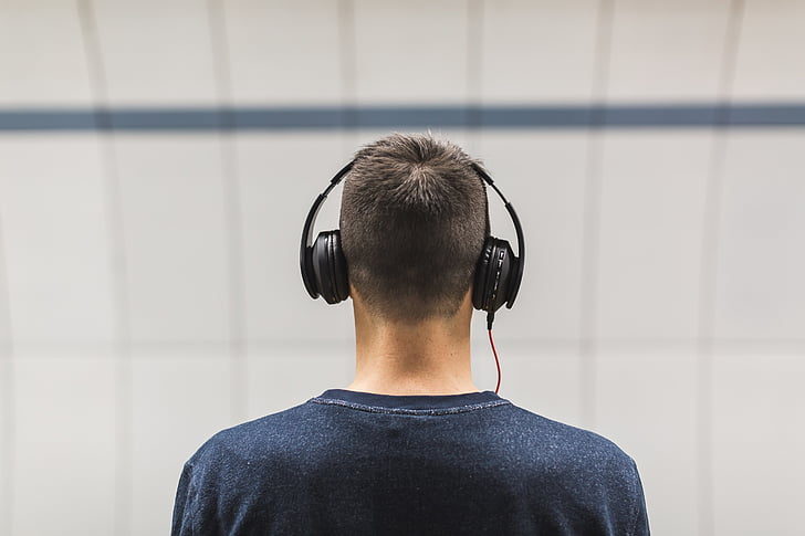 mọi người, người đàn ông, tai nghe, âm nhạc, âm thanh, tập trung, người đàn ông