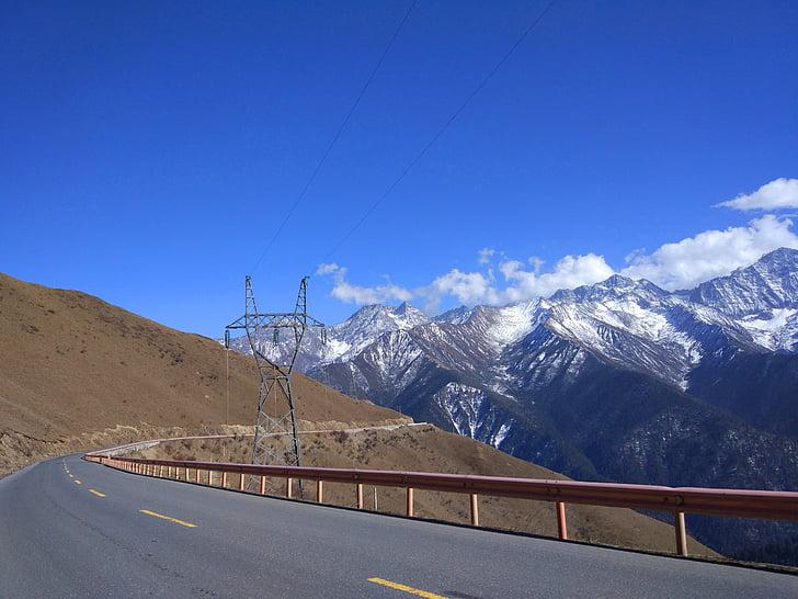 plateau, Mont enneigé, le paysage
