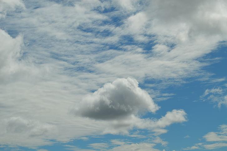 soledad, cloud, sky, celeste, white, individual, isolated