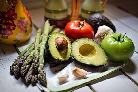 Natüürmort, Vaikelu, köögiviljad, köögivili, tomatid, küüslauk, ikka