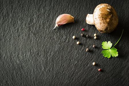 продукти харчування, овочі, Гриб, часник, петрушка, перець, Пакт