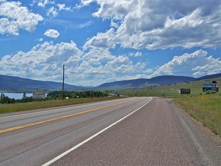 carretera, viatges, Montana, carrer, paisatge, natura, paisatge