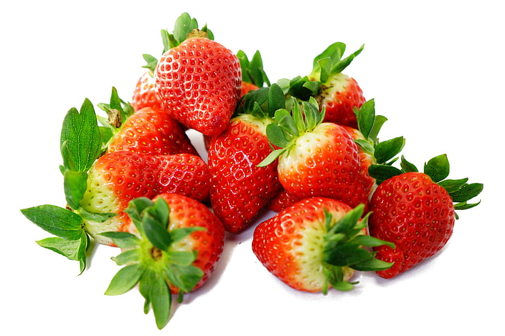 strawberries, sweet, red, delicious, ripe, fruity, fruit